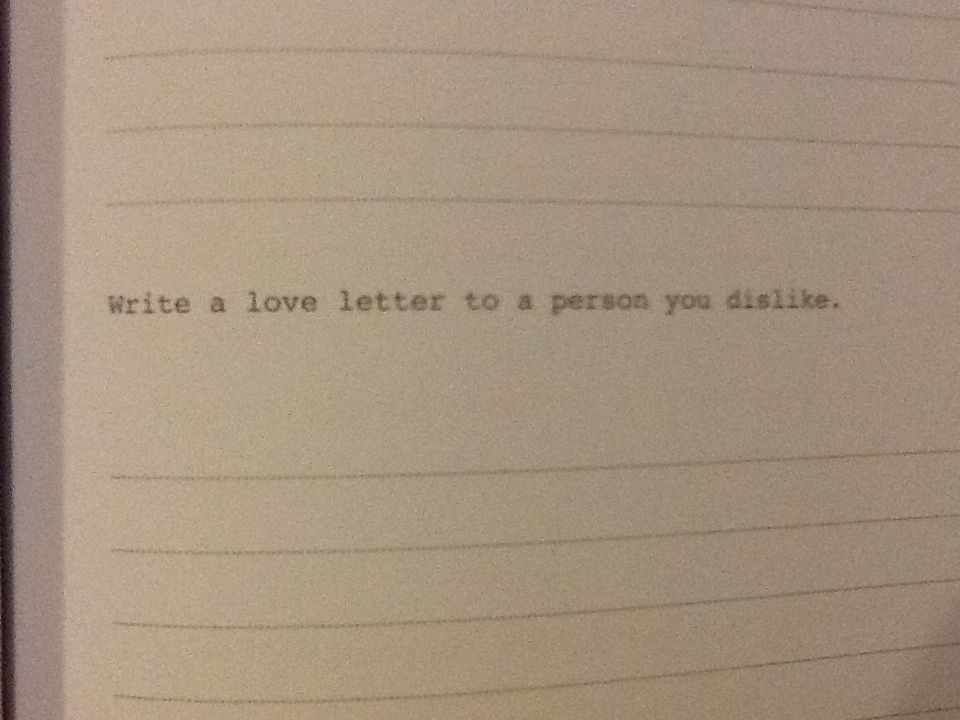 writing a letter for someone you love