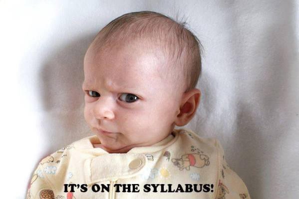 on the syllabus baby